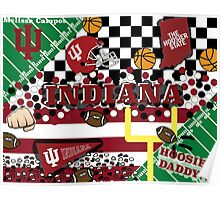 Indiana University Collage Poster