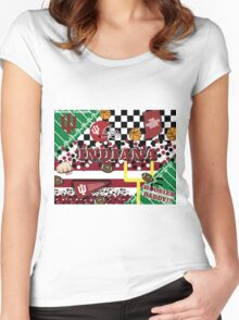Indiana University Collage Women's Fitted Scoop T-Shirt