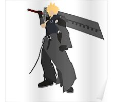 Cloud Strife Vector/Minimalist (Advent Children)  Poster