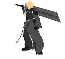 Cloud Strife Vector/Minimalist (Advent Children)  Photographic Print
