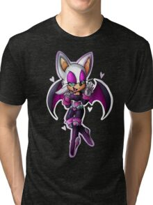 Rouge the bat- Sonic Heroes outfit Tri-blend T-Shirt