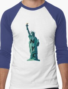 Statue of Liberty  Men's Baseball ¾ T-Shirt