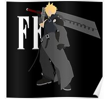 Cloud Strife Vector/Minimalist (Advent Children, White Logo) Poster
