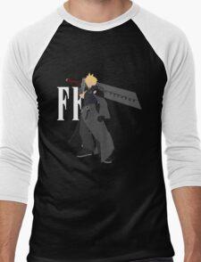 Cloud Strife Vector/Minimalist (Advent Children, White Logo) Men's Baseball ¾ T-Shirt