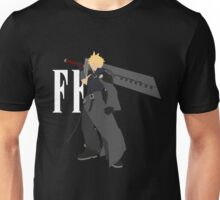 Cloud Strife Vector/Minimalist (Advent Children, White Logo) Unisex T-Shirt