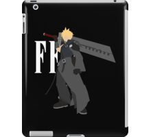 Cloud Strife Vector/Minimalist (Advent Children, White Logo) iPad Case/Skin