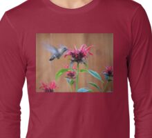 The Hummingbird and the Bee Balm Long Sleeve T-Shirt