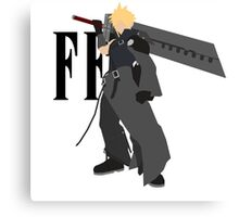 Cloud Strife Vector/Minimalist (Advent Children, Black Logo) Canvas Print