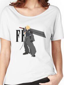 Cloud Strife Vector/Minimalist (Advent Children, Black Logo) Women's Relaxed Fit T-Shirt