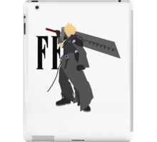 Cloud Strife Vector/Minimalist (Advent Children, Black Logo) iPad Case/Skin