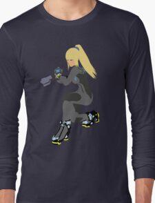 Zero Suit Samus Vector/Minimalist (Black Outfit) Long Sleeve T-Shirt