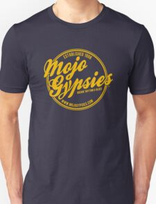 The Mojo Gypsies Long-Sleeve T, gold logo Unisex T-Shirt
