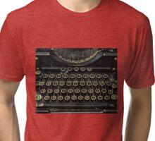 Typewriter Black Tri-blend T-Shirt