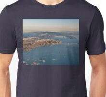 A Plane's Eye View of the San Francisco Bay and Beyond Unisex T-Shirt