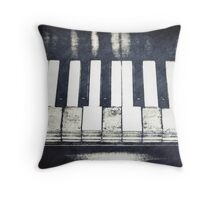 Broken Keys Throw Pillow