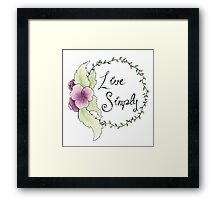 Live Simply Floral Framed Print
