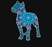 Pitbull, Blue Bohemian Snowflake Design Womens Fitted T-Shirt