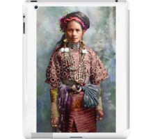 Colorized Philippine Itneg Tribe Woman iPad Case/Skin