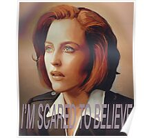 Agent Scully (w/ text) Poster