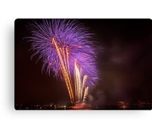 Purple Palm Trees – Boston Fireworks Canvas Print