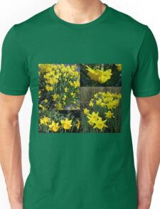 A Collage of Golden Daffodils Unisex T-Shirt