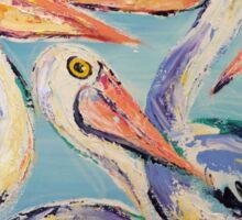 5 Pelican pals acrylics Sticker