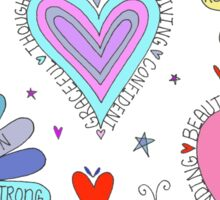 Happy Mother's Day Colorful Hearts & Flowers Sticker