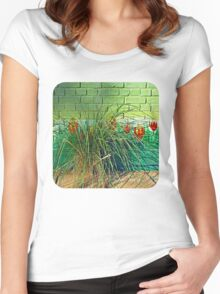 Wall Tulips  Women's Fitted Scoop T-Shirt