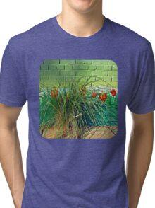 Wall Tulips  Tri-blend T-Shirt