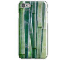 Green Zen Bamboo Stalks iPhone Case/Skin