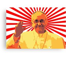 Popes on Deathtars - Pope Francis Canvas Print