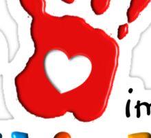 Autism Awareness Childs Hand Sticker