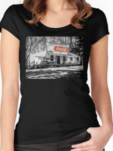 Rabbit Hash Store-Front View SC Women's Fitted Scoop T-Shirt