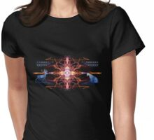 Energetic Geometry - Tribal Communion  Womens Fitted T-Shirt