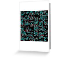 Pixellated City Overhead Greeting Card