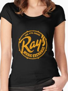 Ray's Music Exchange (worn look) Shirt Women's Fitted Scoop T-Shirt