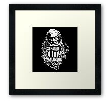 Wizard with the Pipe Shirt Framed Print