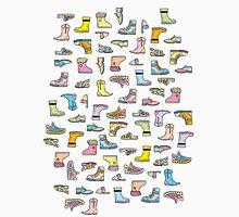 Colorful Shoes Cartoon Pattern Unisex T-Shirt