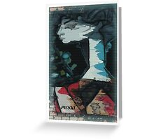 picasso graffiti # 3 Greeting Card