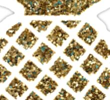 gold glitter pineapple Sticker