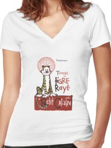 Tigre Raye Shirt Women's Fitted V-Neck T-Shirt