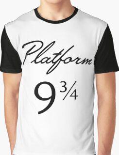 Harry Potter Platform 9 3/4 Text Graphic T-Shirt