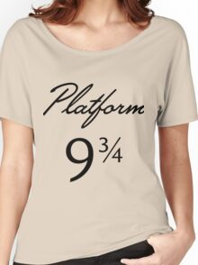 Harry Potter Platform 9 3/4 Text Women's Relaxed Fit T-Shirt