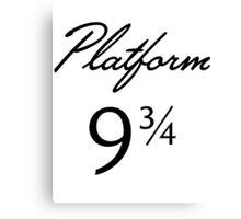 Harry Potter Platform 9 3/4 Text Canvas Print