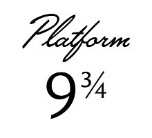 Harry Potter Platform 9 3/4 Text Photographic Print