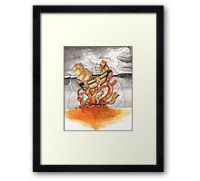 Bacon Kraken Framed Print