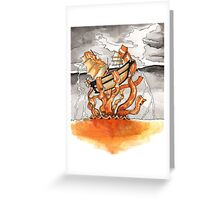 Bacon Kraken Greeting Card