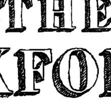 I Support the Oxford Comma [black] Sticker
