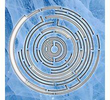 Pendulum Logo Ice Cutout Photographic Print