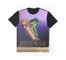 Skateboarding Turtle Graphic T-Shirt